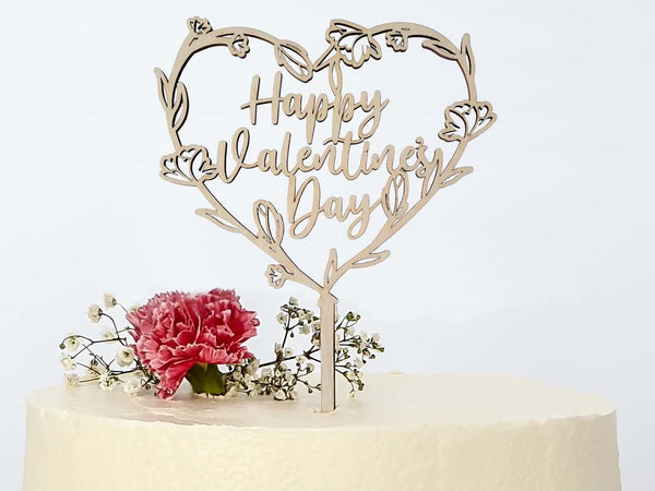 Suzu Papers - Caketopper cake sticks Happy Valentine's Day - Valentine's Day gift idea