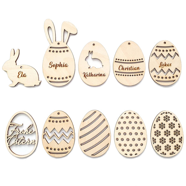 Set of 10 tags EASTER - Suzu Papers