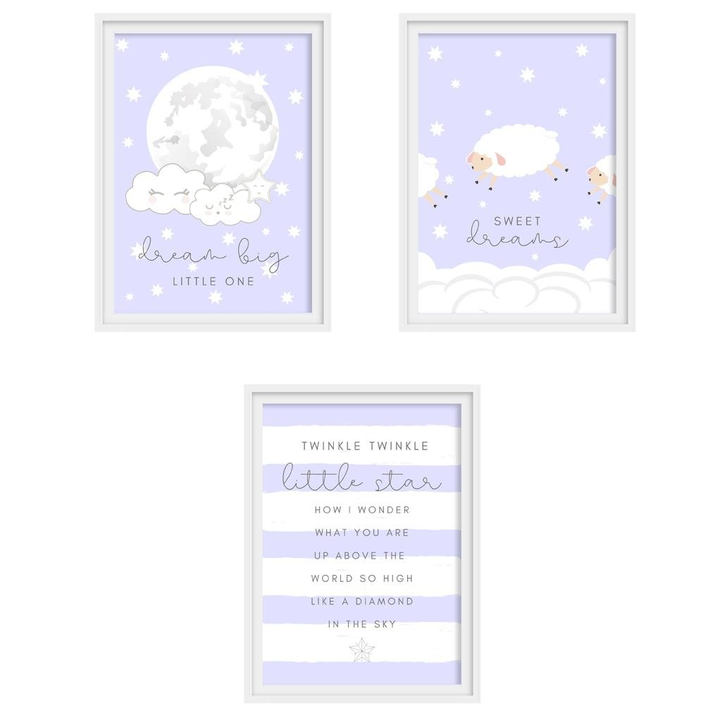"Baby Shower Set ""SWEET DREAMS"" - DIY Template - suzu-papers"