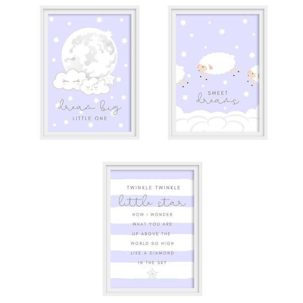 "Baby poster set ""SWEET DREAMS"" - DIY template - suzu-papers"