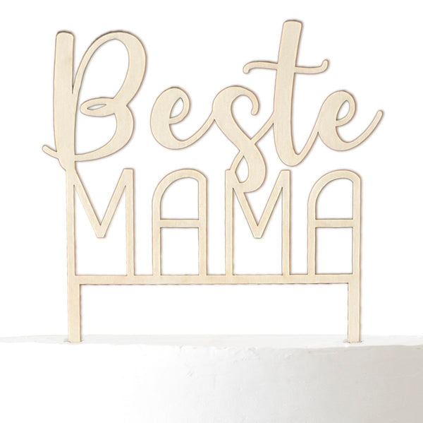 Cake Topper BEST MAMA - Suzu Papers