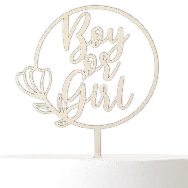 Cake Topper BOY OR GIRL - Suzu Papers