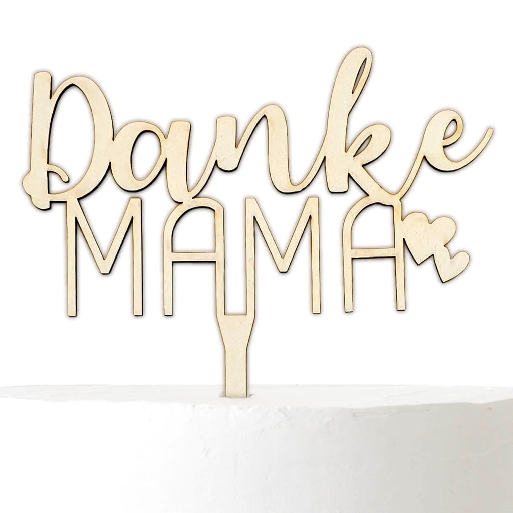Cake Topper THANK YOU MAMA - Suzu Papers