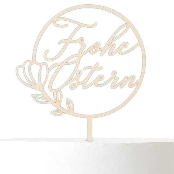 Cake Topper FROHE OSTERN - Suzu Papers