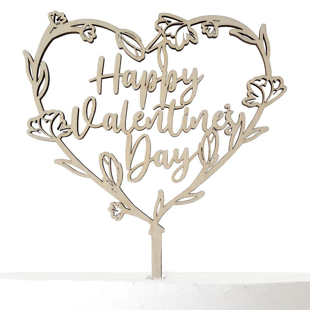 Cake Topper HAPPY VALENTINE'S DAY - Suzu Papers