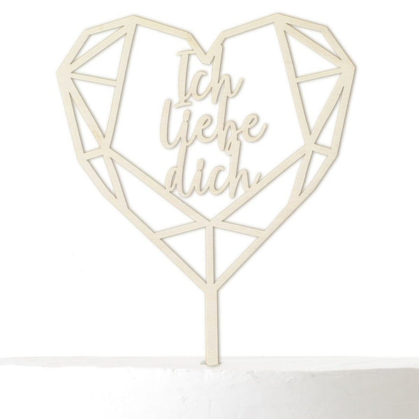 Cake Topper I LOVE YOU - Suzu Papers