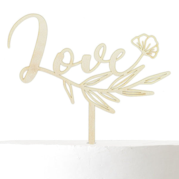 Cake Topper LOVE - Suzu Papers
