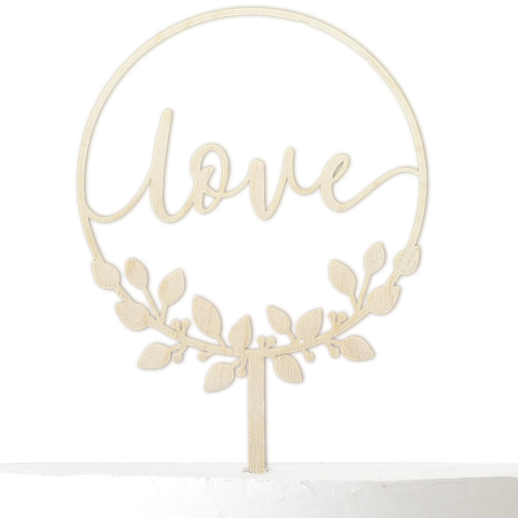 Cake Topper LOVE BLÄTTERKRANZ - Suzu Papers