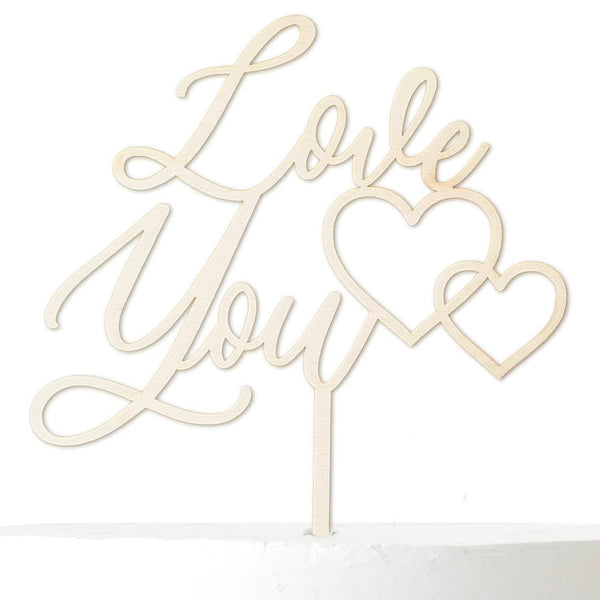 Cake Topper LOVE YOU - Suzu Papers