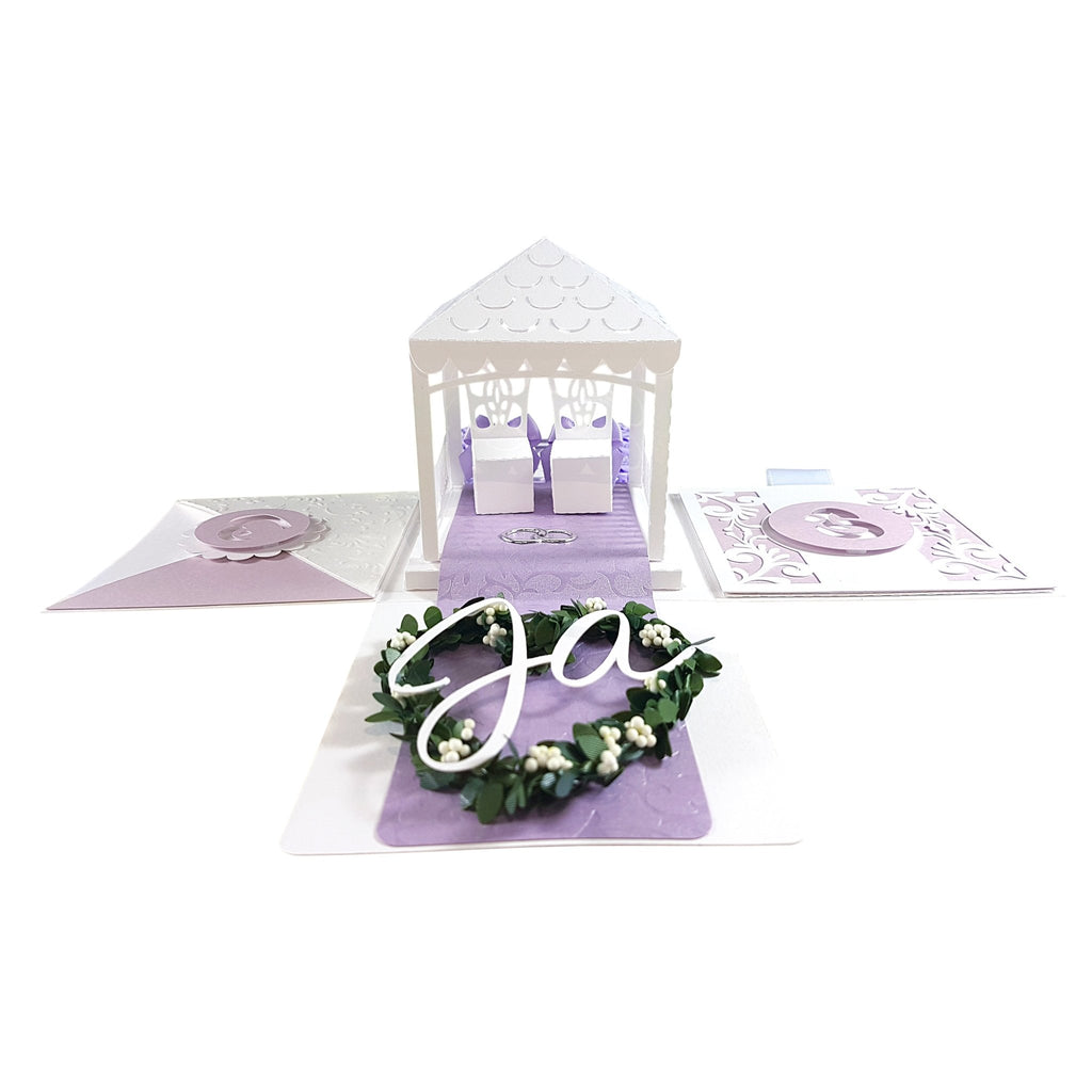 "Wedding box purple ""AIYANA"" - wedding box - suzu-papers"