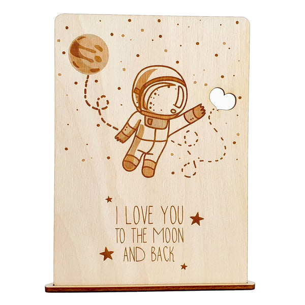 ASTRONAUT wooden card - Suzu Papers
