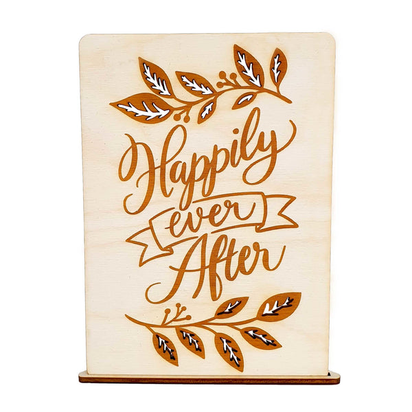 Wooden card HAPPILY EVER AFTER - Suzu Papers