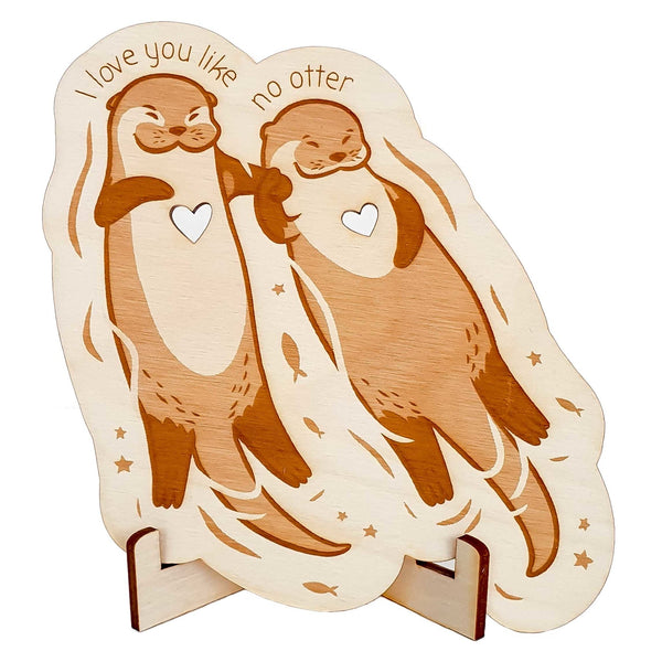Wooden card OTTER - Suzu Papers