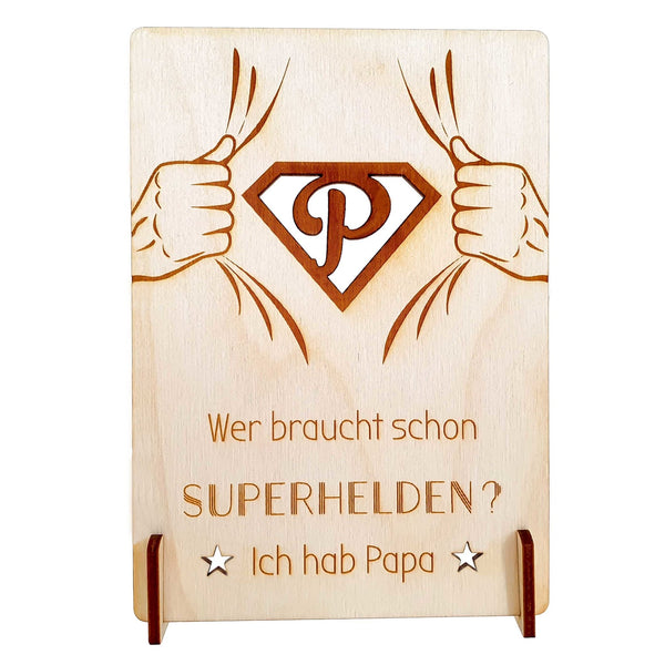 Wooden card SUPERDAD - Suzu Papers