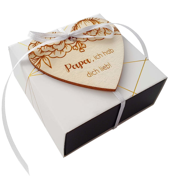 Customizable wooden heart PAPA - Suzu Papers