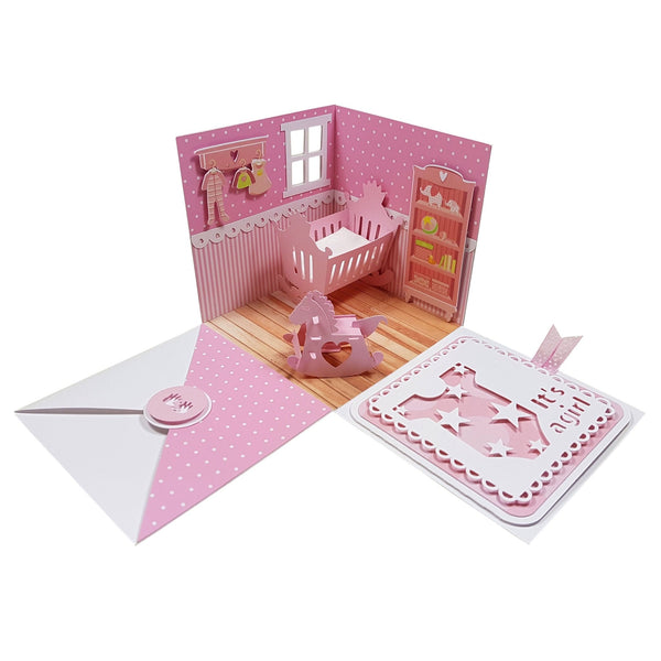"Girl baby gift box ""EIKO"" - baby box - suzu-papers"