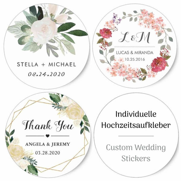 Personalized wedding stickers - Suzu Papers