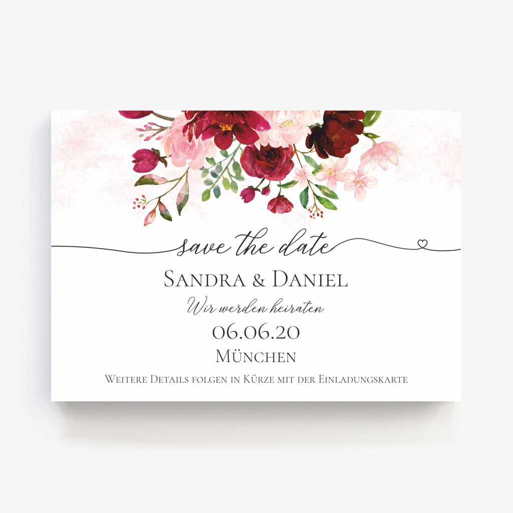 Save the Date Card PEONY - Suzu Papers