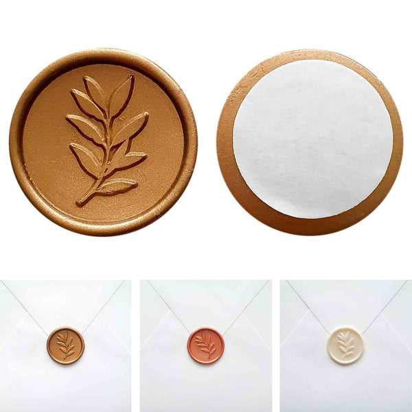 Self-adhesive wax seal SHEET, 15 pieces - Suzu Papers
