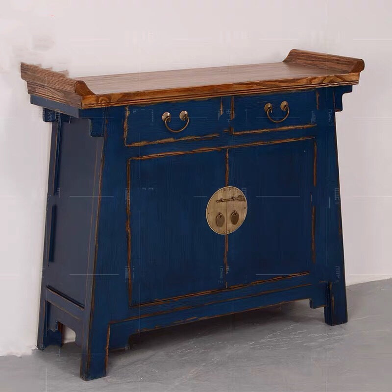 Chinese Side Cabinet Blue