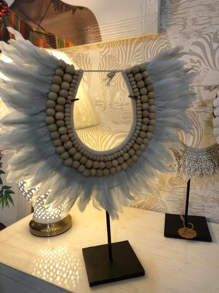 shell feather decor 01