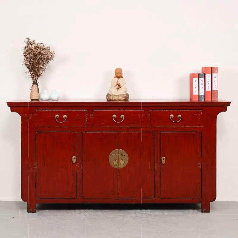 Chinese Side Cabinet red