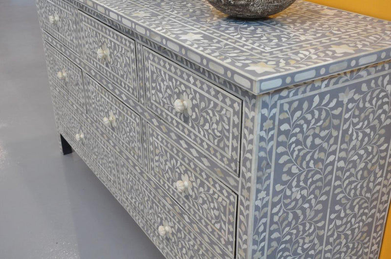 Bone Inlay emerald grey sideboard 02
