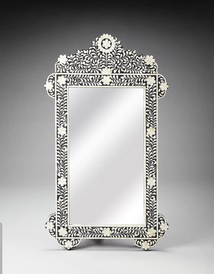 Bone Inlay Mirror 0204