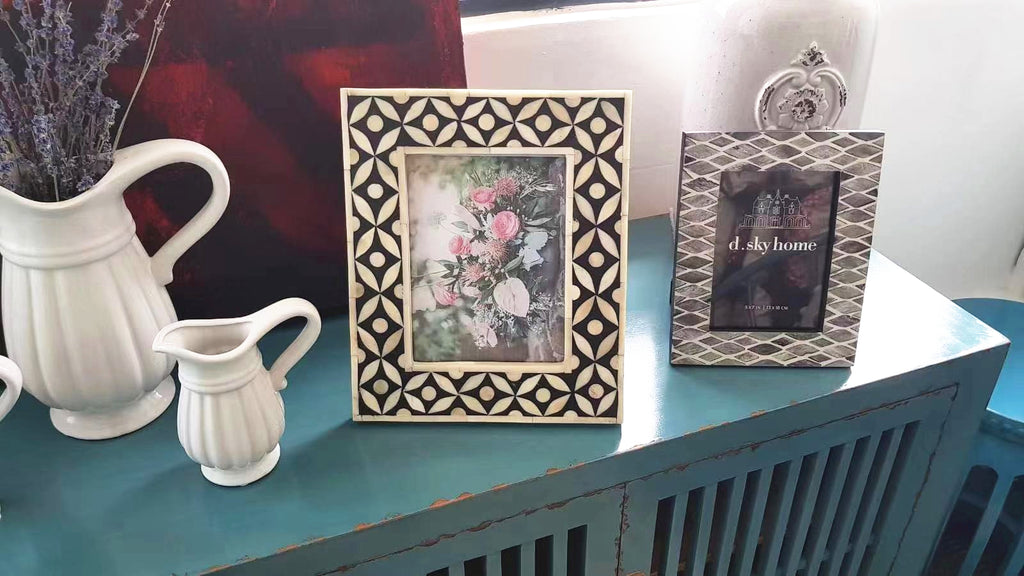 Extra large Bone Inlay Photo Frame 0202