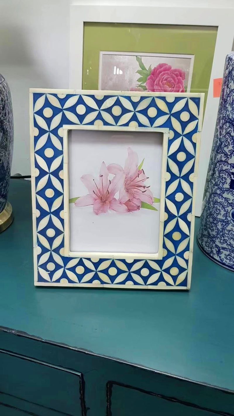 Extra Large Bone Inlay Photo Frame 0203