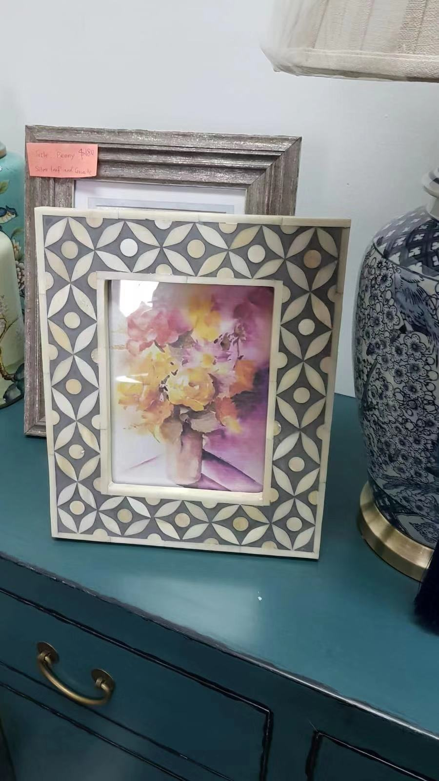 Extra Large Bone Inlay Photo Frame 0204