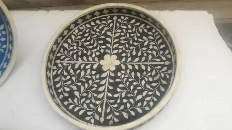 Bone Inlay Roundness Tray 0201