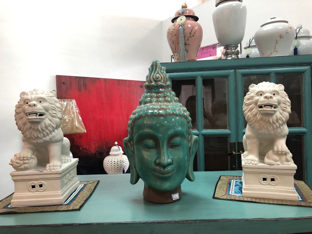 Ceramic Buddha Head 0203