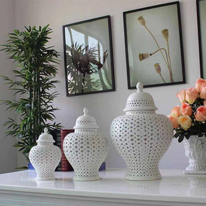 Porcelain Hollow Jars 0204