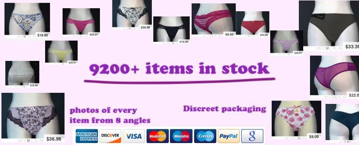 9200 different panties or knickers in stock