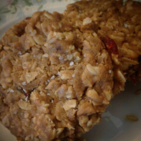 Cute & Lumpy - Vegan Cranberry Oatmeal Cookies