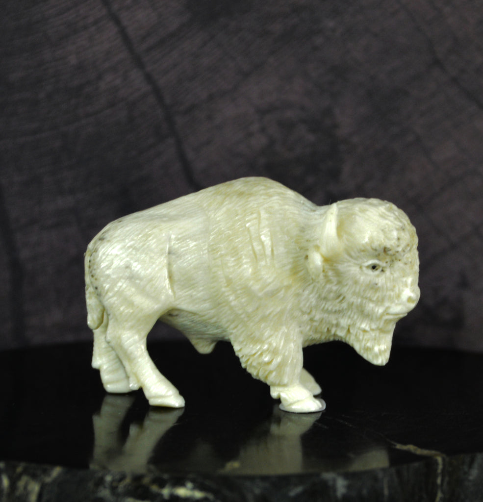 White Buffalo Carving