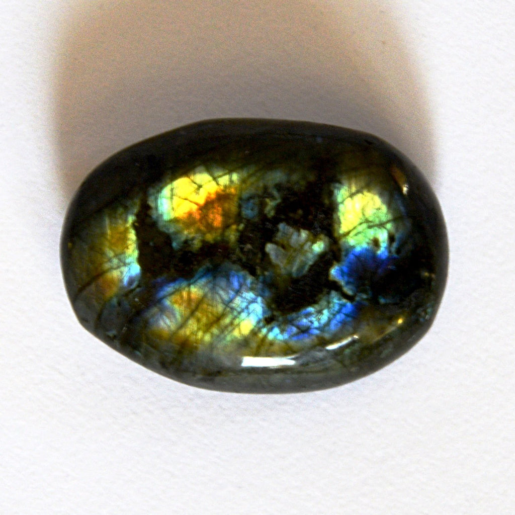 The Lights in Labradorite Palm Size Pebble
