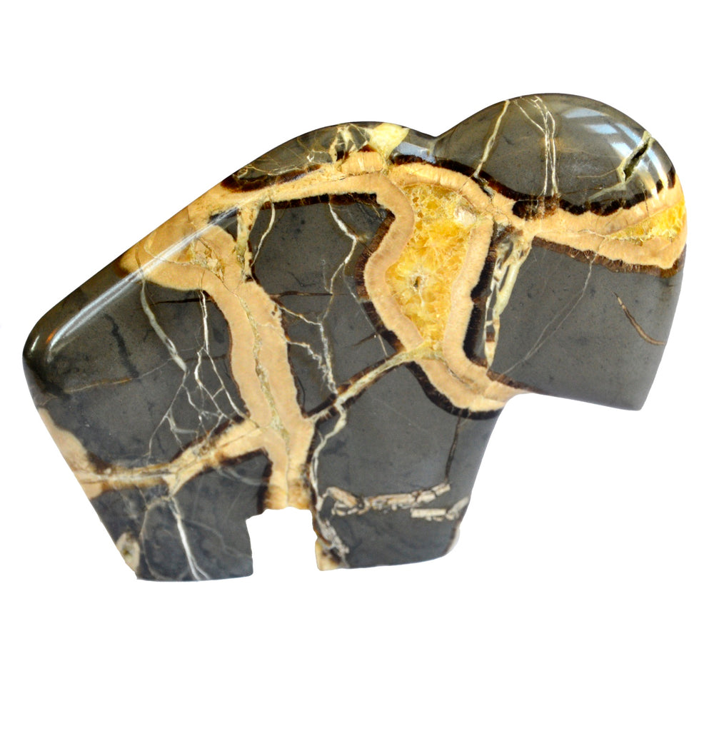 Friend of the Earth Septarian Buffalo Carving