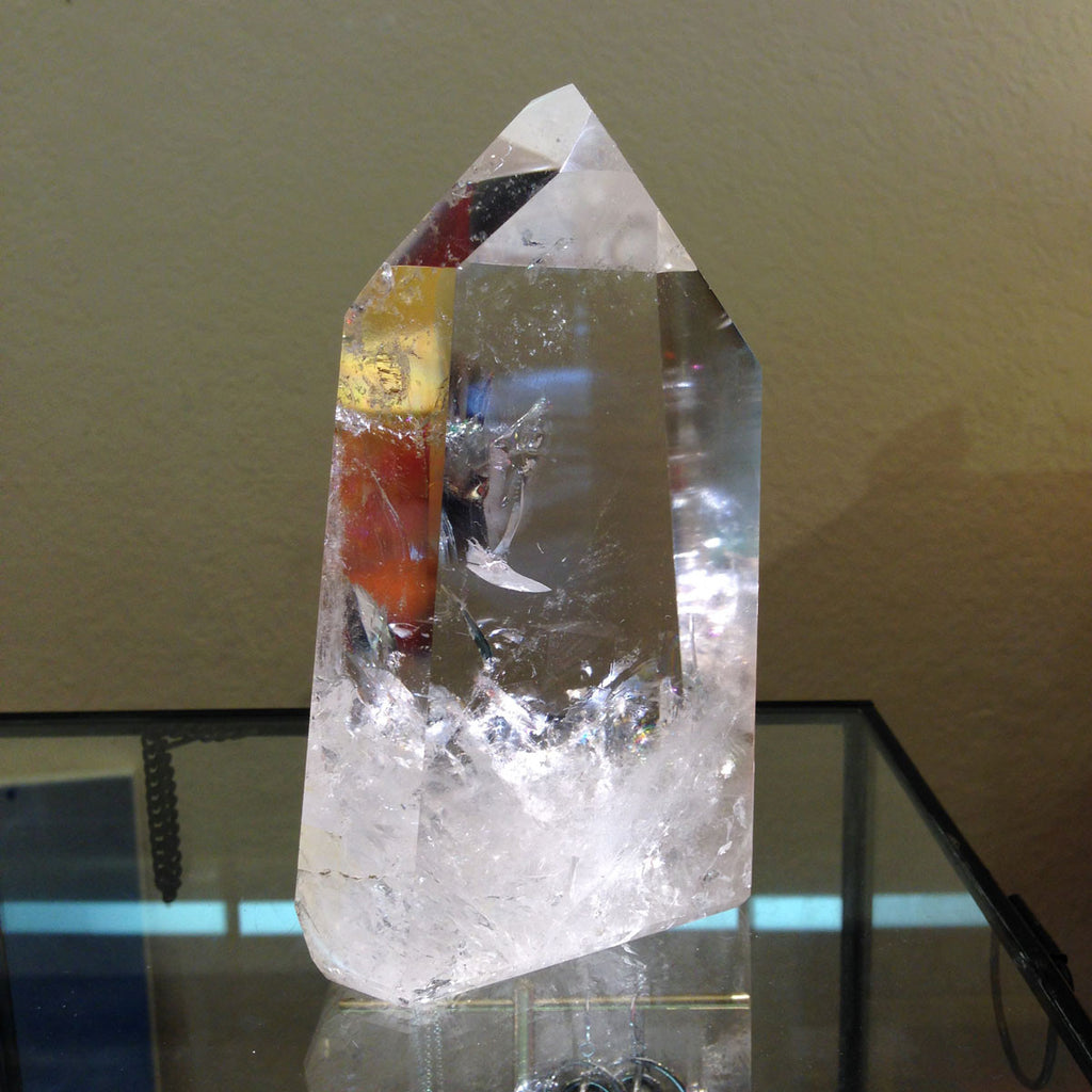 Truly an exquisite Quartz Crystal that shows illuminated light
