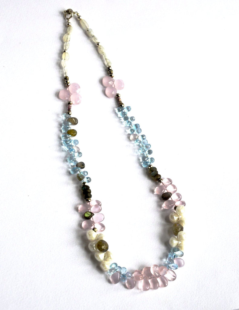Rosy Pinks & Baby Blues - Necklace