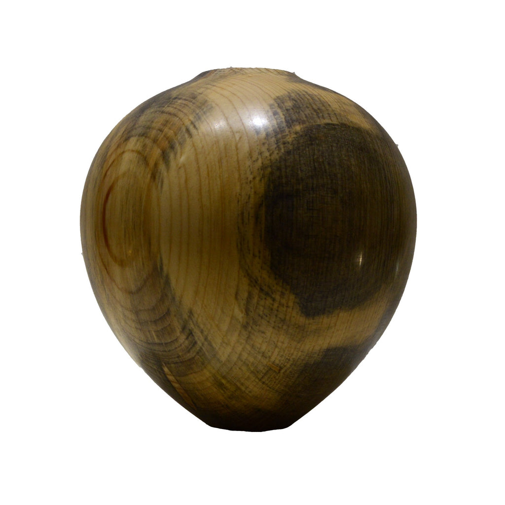 Small vase of Turned wood in Pine with gray spalting