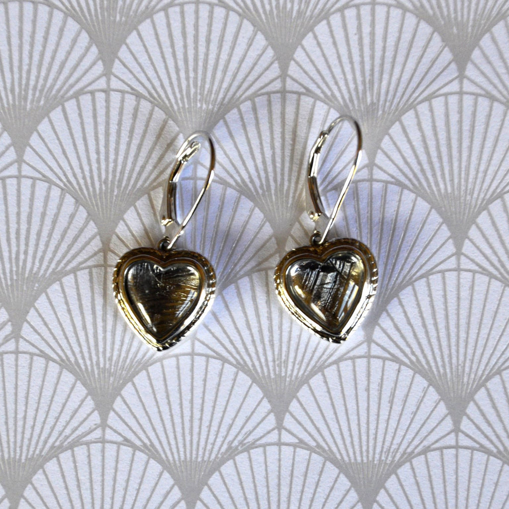 You Have my Heart Meteorite Earrings