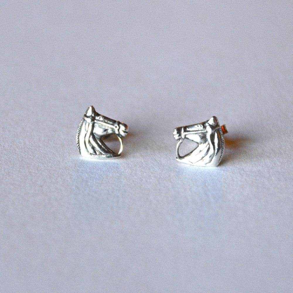 wild horse head post earrings created in sterling silver