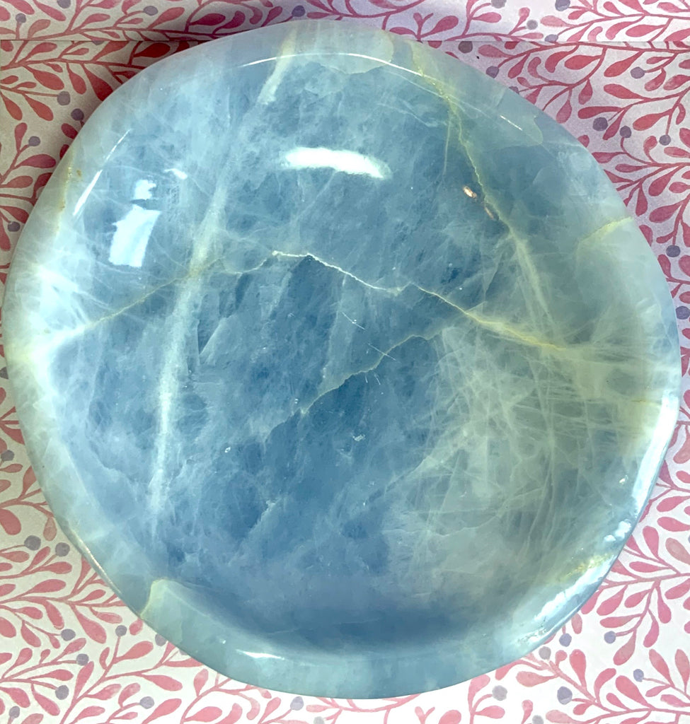 Large Blue Calcite Bowl