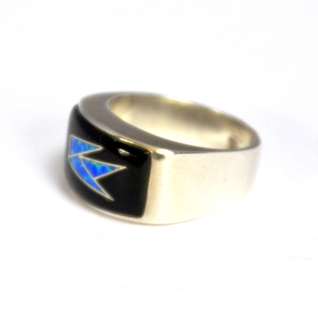 Electric Night Inlay Ring