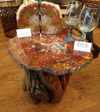 Red Petrified Wood Table