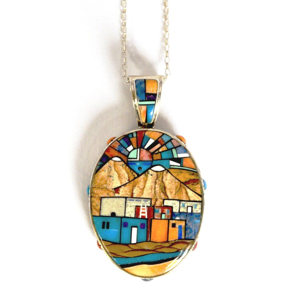 Sun Kachina Double Sided Custom Pendant