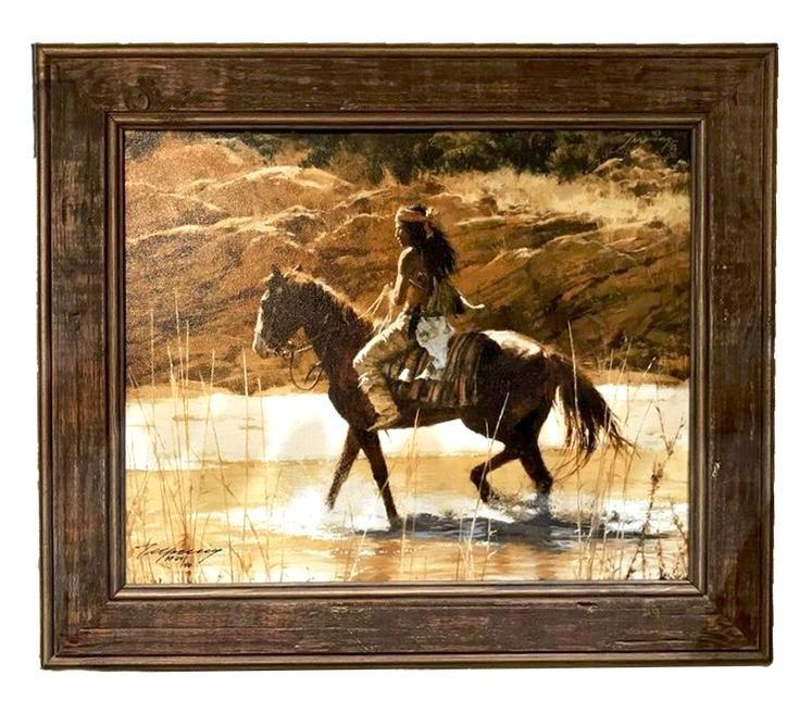 The Captains Horse Framed (20 x 17.5) Limited Edition Canvas Print