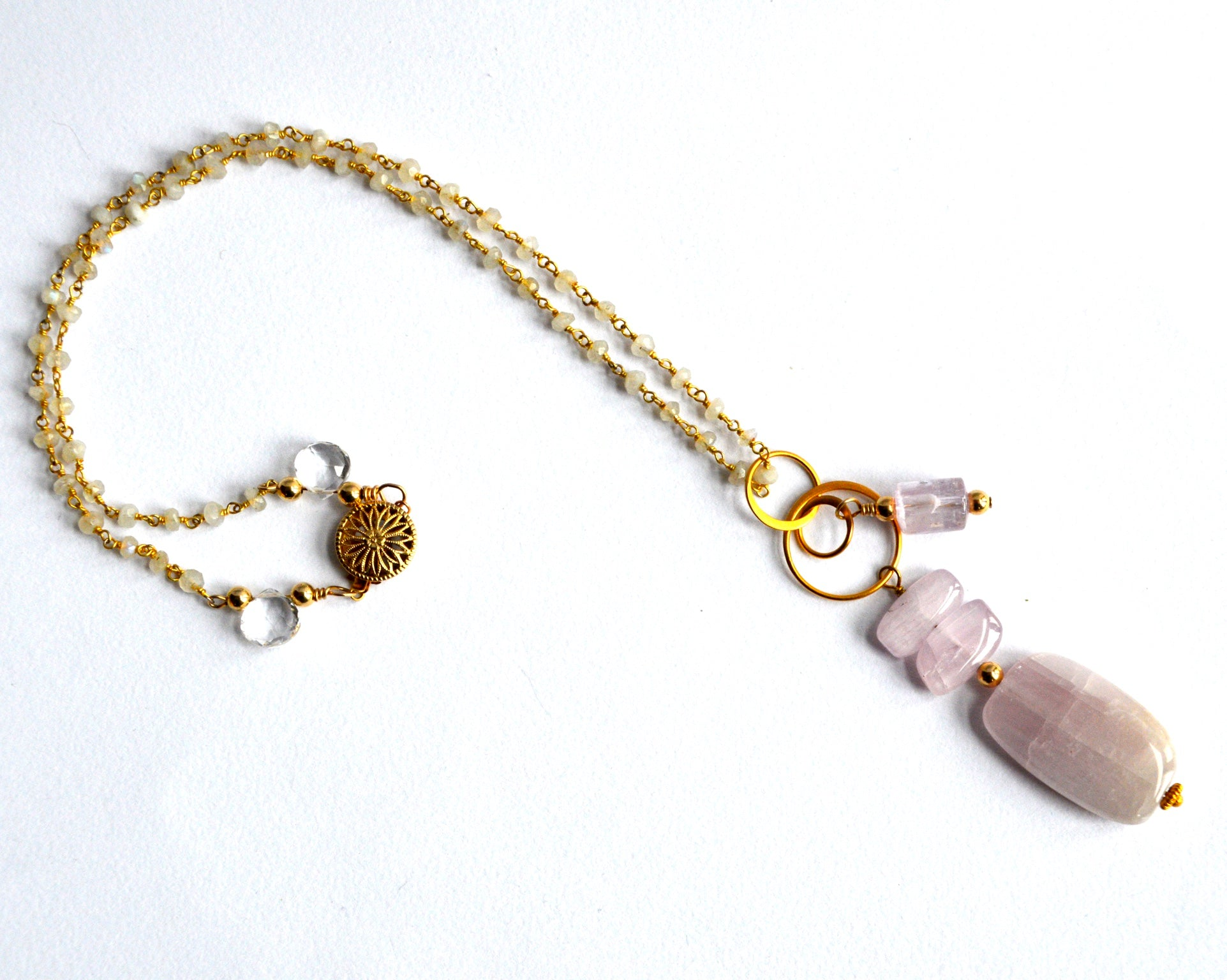 Under A Pink Moon - Kunzite Necklace
